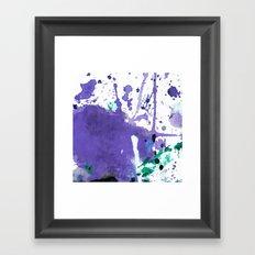 purple splash Framed Art Print