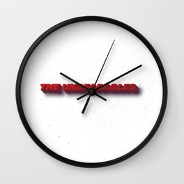 Unbearables Distressed Typography Wall Clock