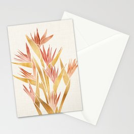 Deco Flowers ~ Metallic Birds of Paradise Stationery Cards