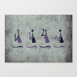 Forms of Prayer - White Canvas Print