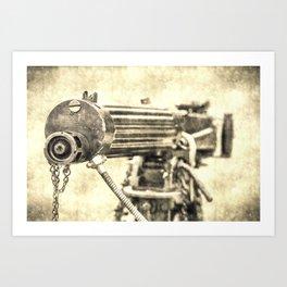 Vickers Machine Gun Vintage Art Print