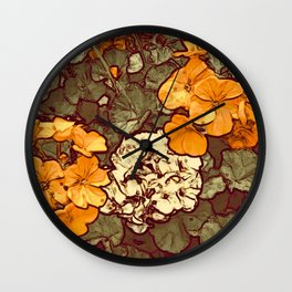 Orange Geranium, Plant of Feminine Healing Wall Clock
