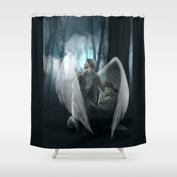 Reverse!verse Purgatory Shower Curtain