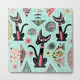 Geometric Cubist Hep Cats Metal Print
