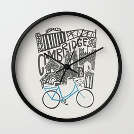 Cambridge Cityscape Wall Clock