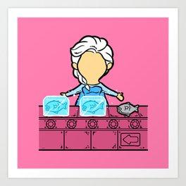 Part Time Job - Frozen Seafood Factory Art Print