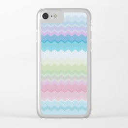 Rainbow pattern Clear iPhone Case