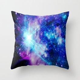 galaxy Nebula Star Throw Pillow