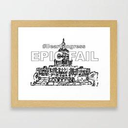 Congress EPIC FAIL Framed Art Print