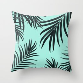 Palm Leaves Pattern Summer Vibes #7 #tropical #decor #art #society6 Throw Pillow