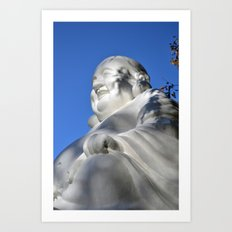 Laughing Buddha Art Print