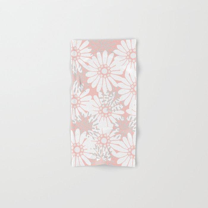 Summer Flowers Pink Hand & Bath Towel