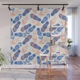 Blue Flip Flops Wall Mural