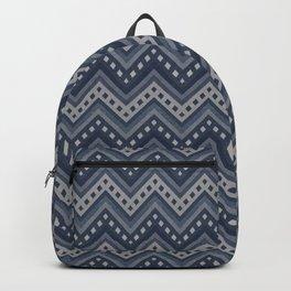 Denim zigzag photocollage+ Backpack