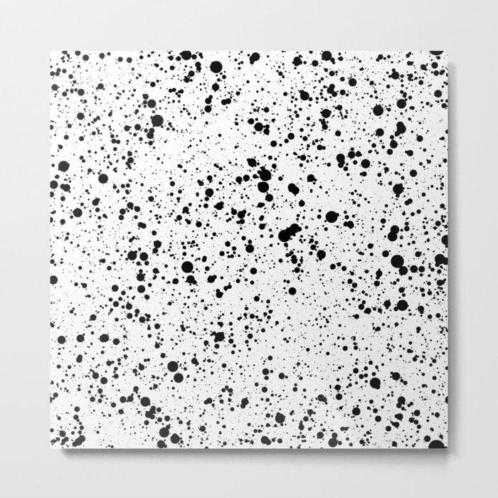 black paint splatter Metal Print