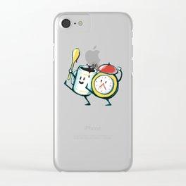 Wake up! Wake up! Clear iPhone Case
