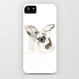 Pixie the Lionhead Rabbit by Teresa Thompson iPhone Case