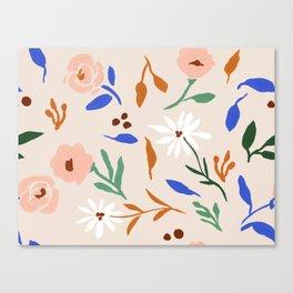 Tulum Floral Canvas Print
