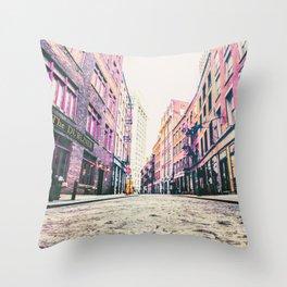 Stone Street - Financial District - New York City Throw Pillow