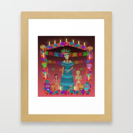 Pink Ómbre Day of the Dead Framed Art Print