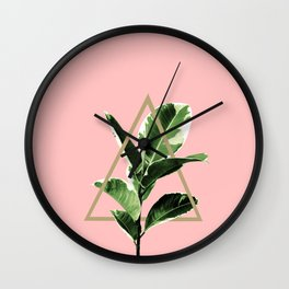 Ficus Elastica Geo Finesse #1 #tropical #foliage #decor #art #society6 Wall Clock