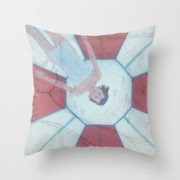 resident evil Throw Pillows featuring Resident Evil - Generations of Alice by Robin Stevens