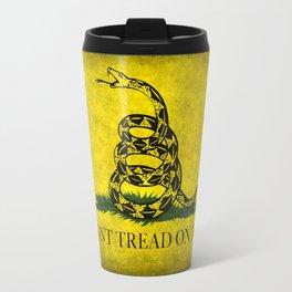 Gadsden Dont Tread On Me Flag - Distressed Travel Mug