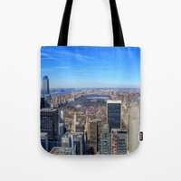 central park Tote Bags featuring Central Park by Christine Workman
