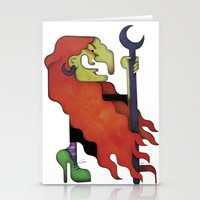 witch Stationery Cards featuring Witch by Iribú