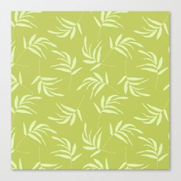 Chartreuse leaves pattern Canvas Print