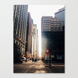 Chicago Street Commuter Canvas Print