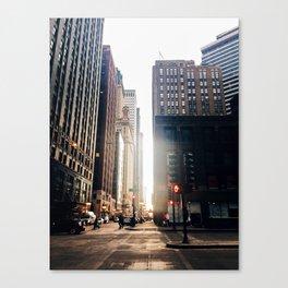 Chicago Street Commuter Canvas Print