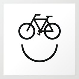 Bike face, bicycle smiley Art Print
