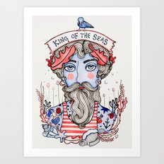 King of the Seas Art Print