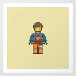 #10 Emmet Lego Art Print