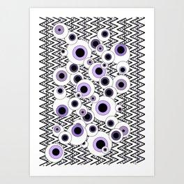 Peekaboo - Purple Art Print