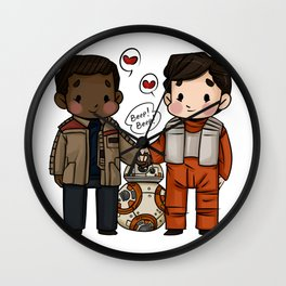 Finn and Poe and their Bay-be Wall Clock