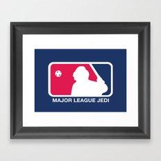 Major League Jedi Framed Art Print