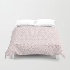 Pink Geometric Lines Duvet Cover