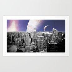 New New York : Galaxy City Art Print
