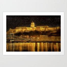 Budapest Vincent Van Gogh Art Print