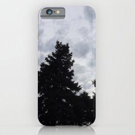 Grey Sky, Black Trees iPhone Case