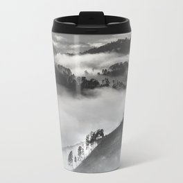 Mist in the mountains Travel Mug