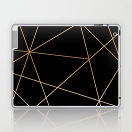 Geometric black gold Laptop & iPad Skin