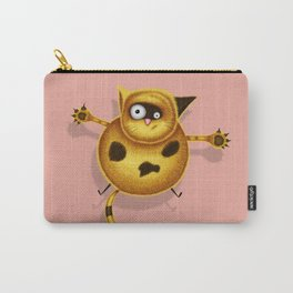Flying Fat Cat | Pink Carry-All Pouch