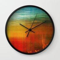 flight Wall Clocks featuring Flight by SensualPatterns
