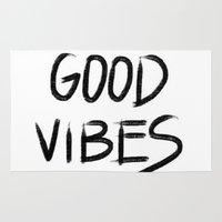 good vibes Area & Throw Rugs featuring Good Vibes by I Love Decor