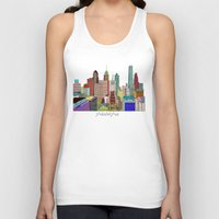 philadelphia Tank Tops featuring Philadelphia city sklyine by bri.buckley