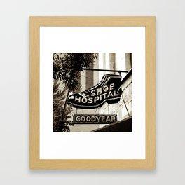 Shoe Hospital Framed Art Print