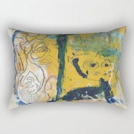 blue cat home Rectangular Pillow